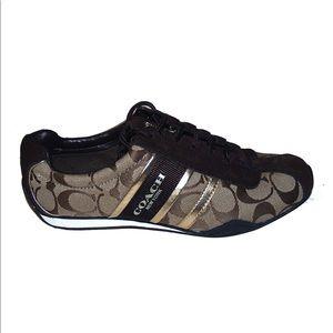 Coach Khaki/ Gold Remonna Sneakers
